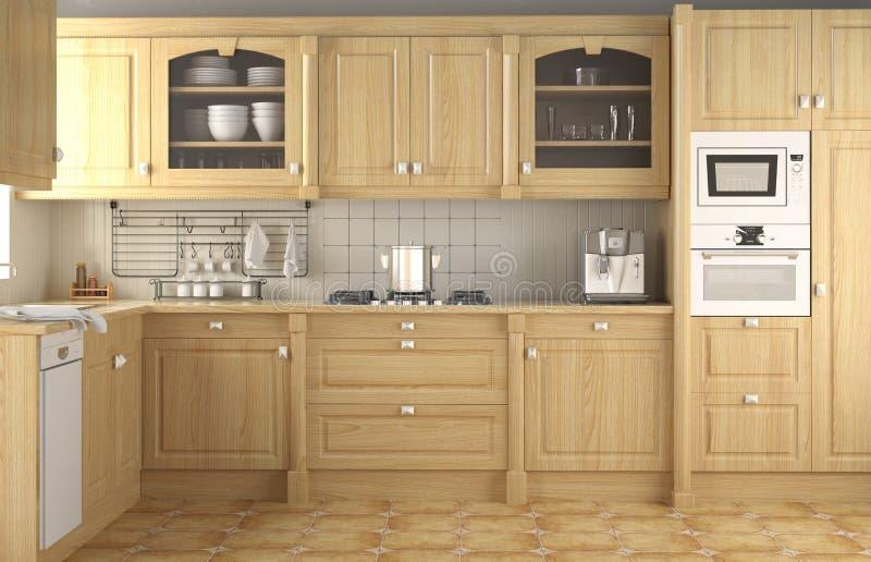 κλασική εσωτερική κουζίνα σχεδίου στοκ εικόνες