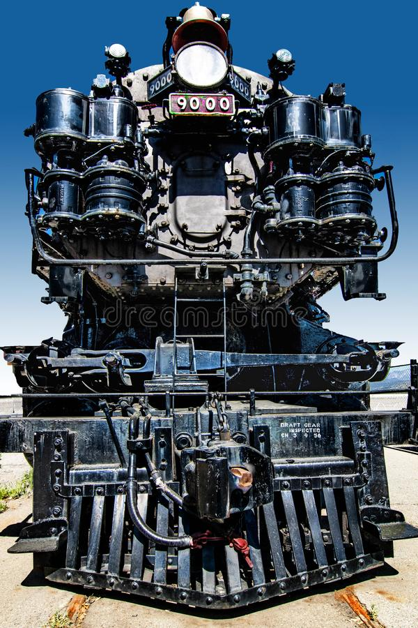 Κλασική κινητήρια νότια ειρηνική σειρά 9000 μηχανών ατμού στοκ εικόνες