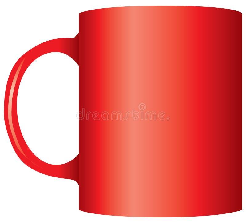 Κλασική κόκκινη κούπα γραφείων διανυσματική απεικόνιση