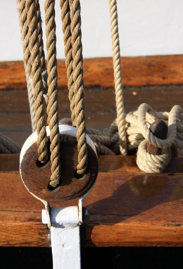κλασική λεπτομέρεια Κίελο βαρκών στοκ φωτογραφία με δικαίωμα ελεύθερης χρήσης