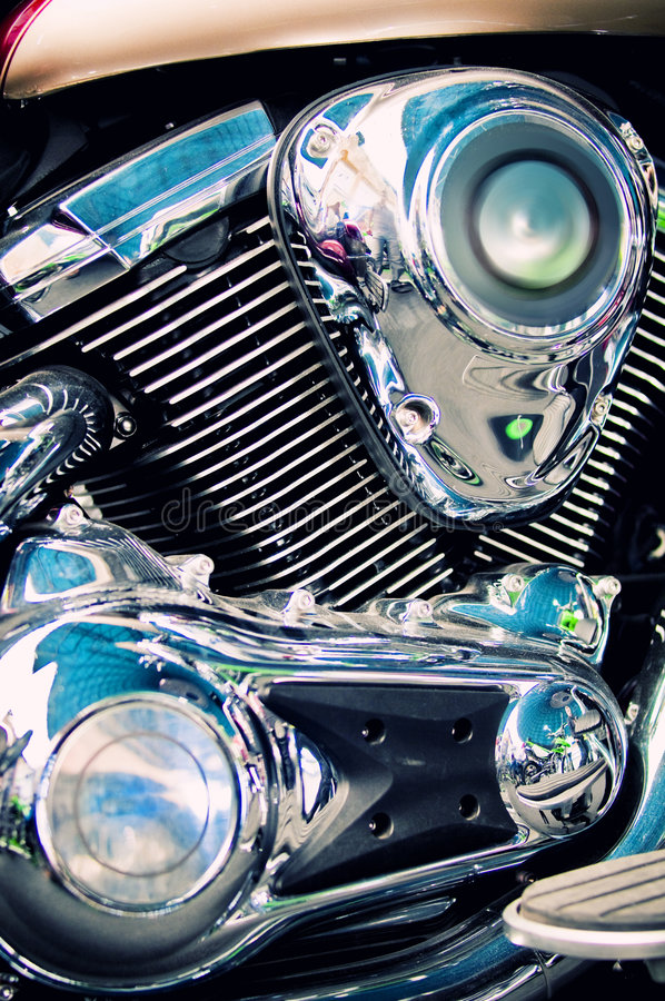 κλασική μοτοσικλέτα μηχ&al στοκ φωτογραφία