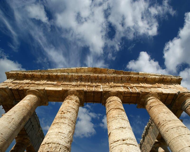 κλασικός δωρικός ελληνικός ναός της Σικελίας segesta στοκ εικόνες με δικαίωμα ελεύθερης χρήσης