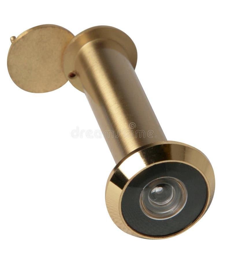 Κλασικός θεατής πορτών σημαντική λεπτομέρεια ασφάλειας για τη μπροστινή πόρτα του σπιτιού στοκ φωτογραφία