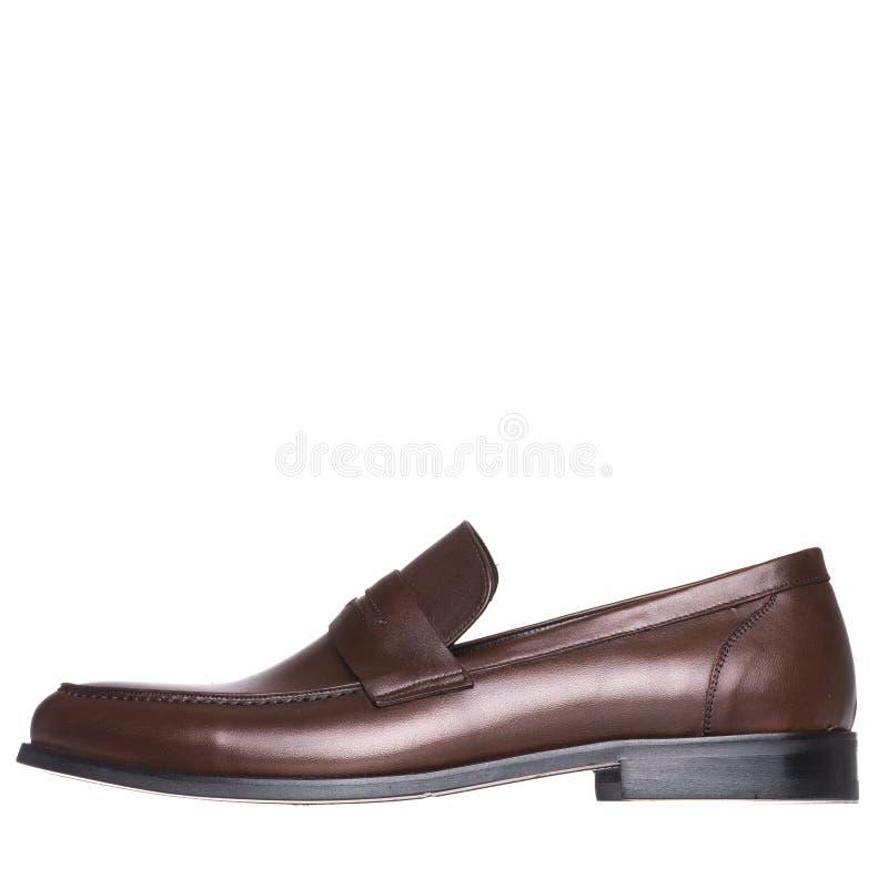 Κλασικός κομψός παπουτσιών για το λευκό ατόμων που απομονώνεται στοκ εικόνες
