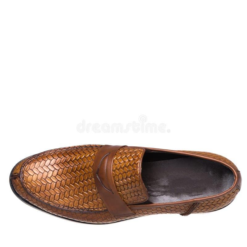 Κλασικός κομψός παπουτσιών για το λευκό ατόμων που απομονώνεται στοκ φωτογραφία με δικαίωμα ελεύθερης χρήσης