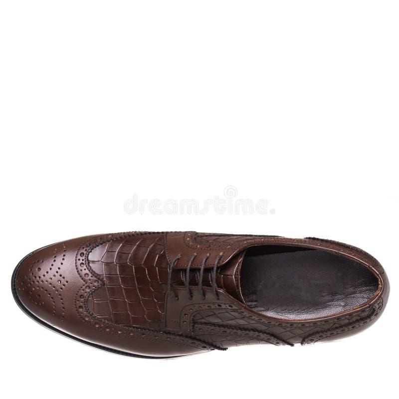 Κλασικός κομψός παπουτσιών για το λευκό ατόμων που απομονώνεται στοκ εικόνα