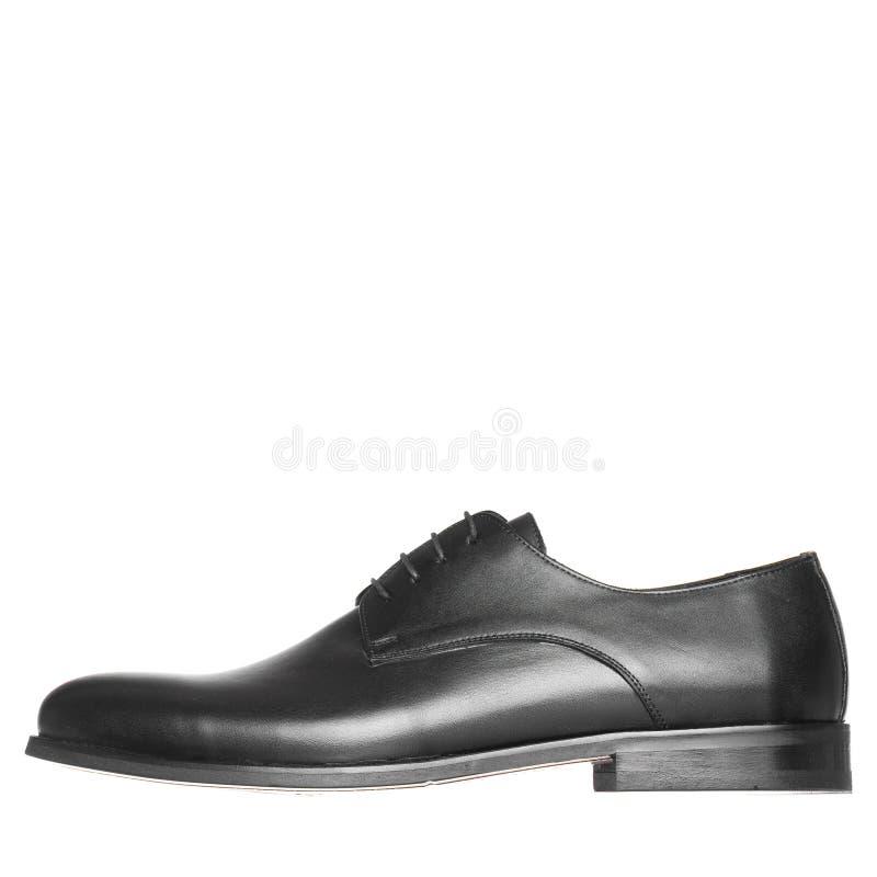 Κλασικός κομψός παπουτσιών για το λευκό ατόμων που απομονώνεται στοκ φωτογραφία