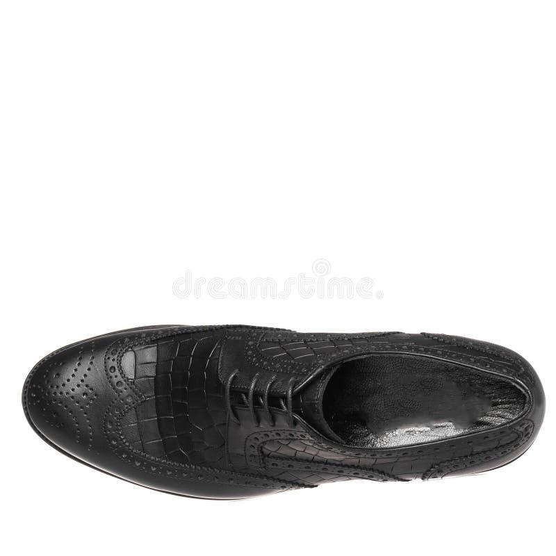 Κλασικός κομψός παπουτσιών για το λευκό ατόμων που απομονώνεται στοκ φωτογραφίες