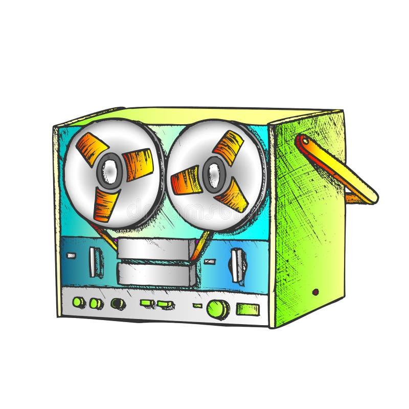Κλασικός Παίκτης Μπουλόνια Για Διάνυσμα Χρώματος Μουσικής Ακρόασης απεικόνιση αποθεμάτων