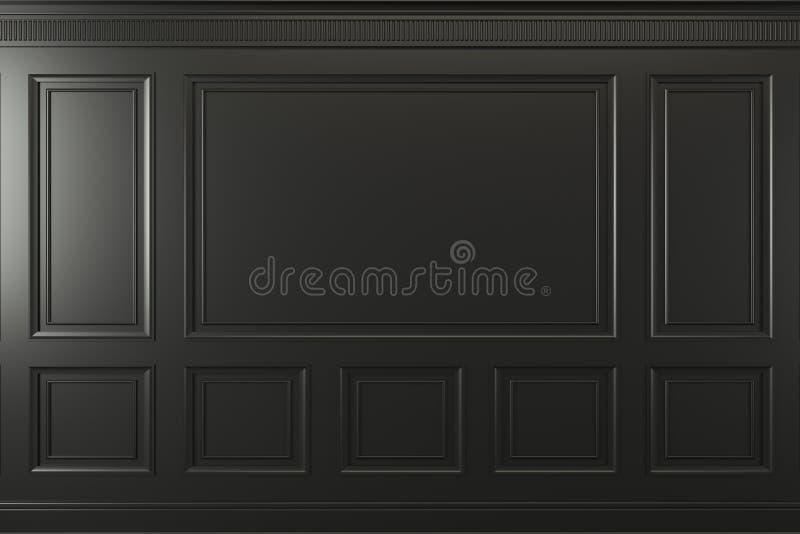 Κλασικός τοίχος των σκοτεινών ξύλινων επιτροπών Σχέδιο και τεχνολογία στοκ φωτογραφίες με δικαίωμα ελεύθερης χρήσης