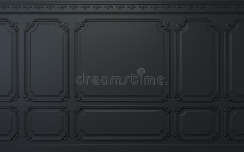 Κλασικός τοίχος των σκοτεινών ξύλινων επιτροπών Σχέδιο και τεχνολογία στοκ εικόνα με δικαίωμα ελεύθερης χρήσης