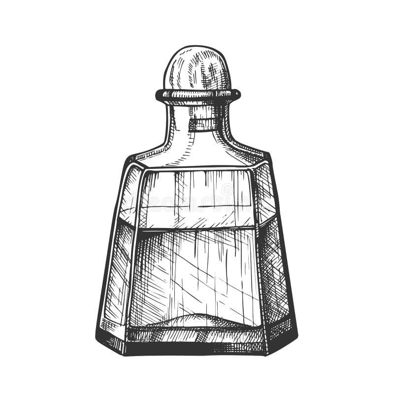 Κλασικό διάνυσμα ποτών Tequila καραφών κρυστάλλου ελεύθερη απεικόνιση δικαιώματος