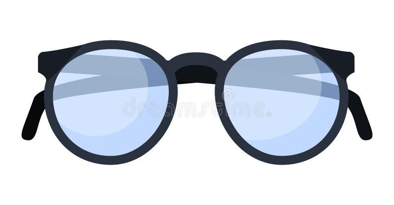 Κλασικό εικονίδιο γυαλιών, επίπεδο ύφος διανυσματική απεικόνιση