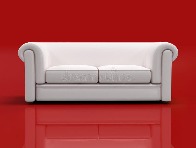 κλασικό λευκό καναπέδων ελεύθερη απεικόνιση δικαιώματος