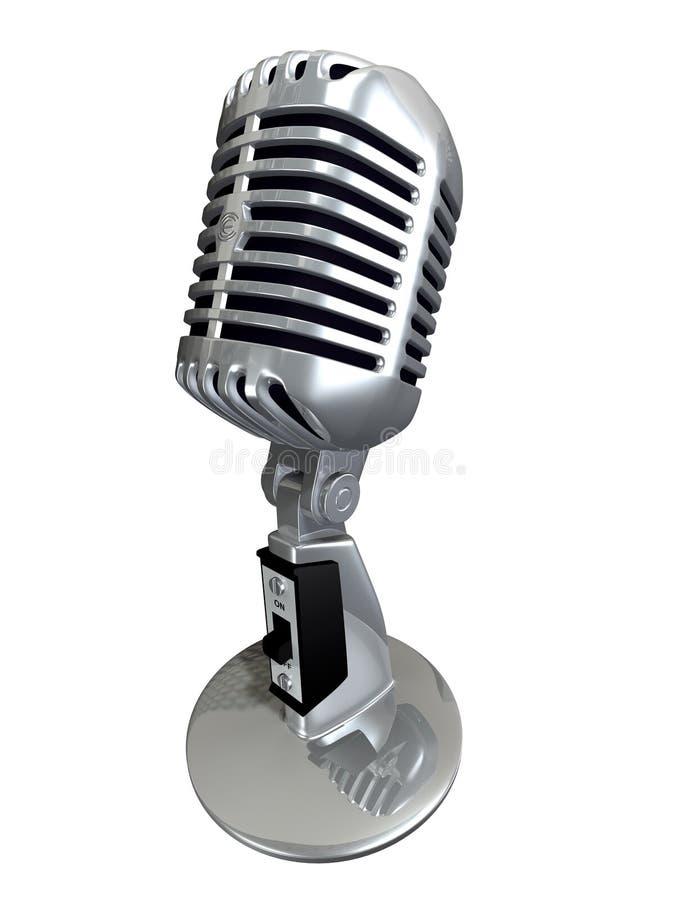κλασικό μικρόφωνο διανυσματική απεικόνιση