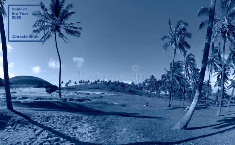 Κλασικό μπλε φόντο Φοίνικας στο Πάσχα Χρώμα του έτους Coy2020 στοκ εικόνες