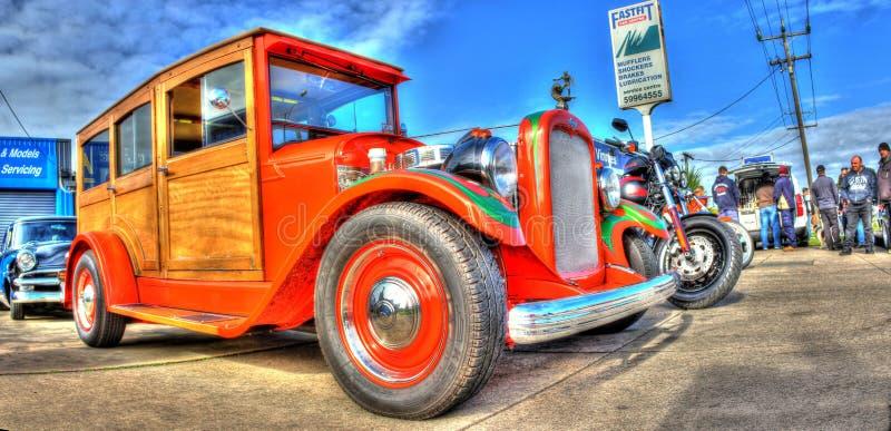 Κλασικό ξύλινο βαγόνι εμπορευμάτων Chevy της δεκαετίας του '20 αμερικανικό στοκ φωτογραφίες