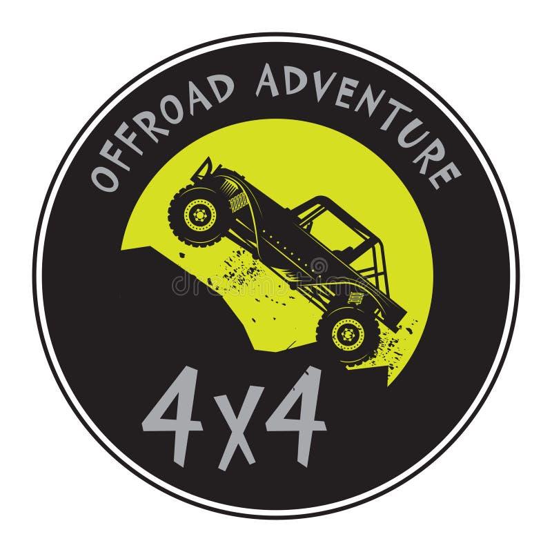 Κλασικό πλαϊνό σημάδι ή σύμβολο ετικετών γραμματοσήμων αυτοκινήτων ελεύθερη απεικόνιση δικαιώματος