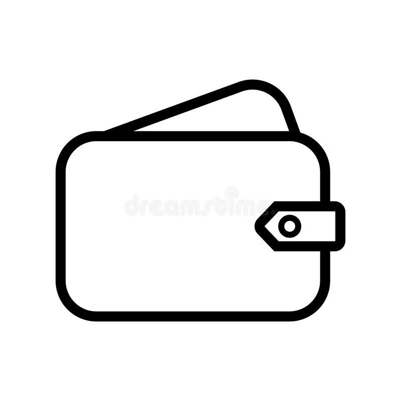 Εικονίδιο γραμμών πορτοφολιών Σημάδι δυνατότητας προσέγγισης Σύμβολο αποταμίευσης μετρητών Στοιχείο ποιοτικού σχεδίου Κλασικό πορ διανυσματική απεικόνιση