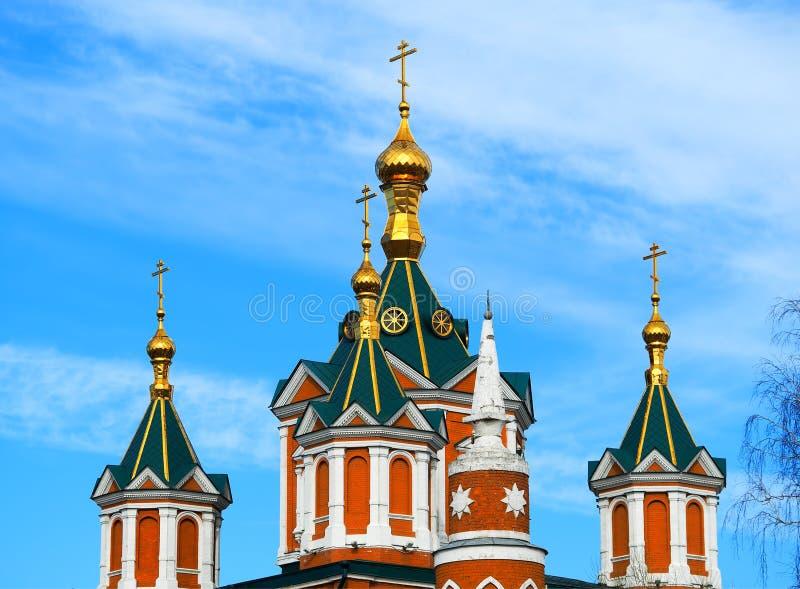Κλασικό ρωσικό υπόβαθρο αρχιτεκτονικής ναών στοκ εικόνες