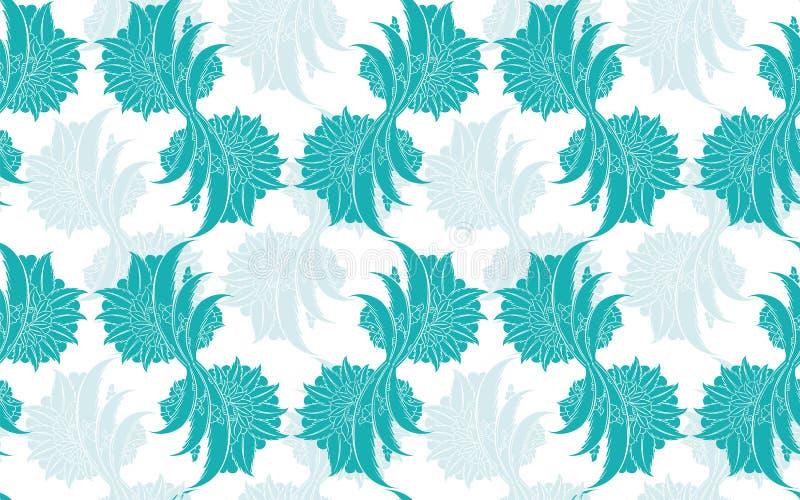 Κλασικό floral damask άνευ ραφής σχέδιο διανυσματική απεικόνιση