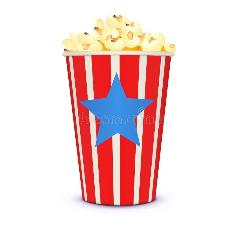 κλασικό popcorn κινηματογράφων ύ ελεύθερη απεικόνιση δικαιώματος
