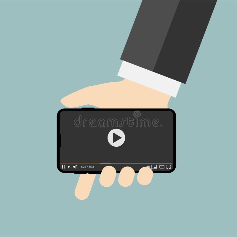 Κλασικό video για τον ατμό Διαδικτύου απεικόνιση αποθεμάτων