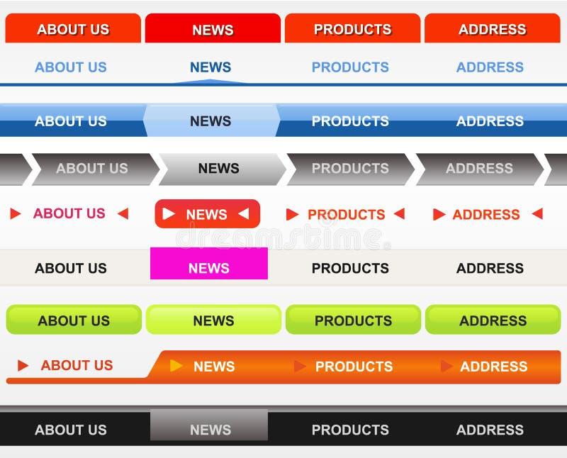 κλασσικός Ιστός κουμπιώ&nu διανυσματική απεικόνιση