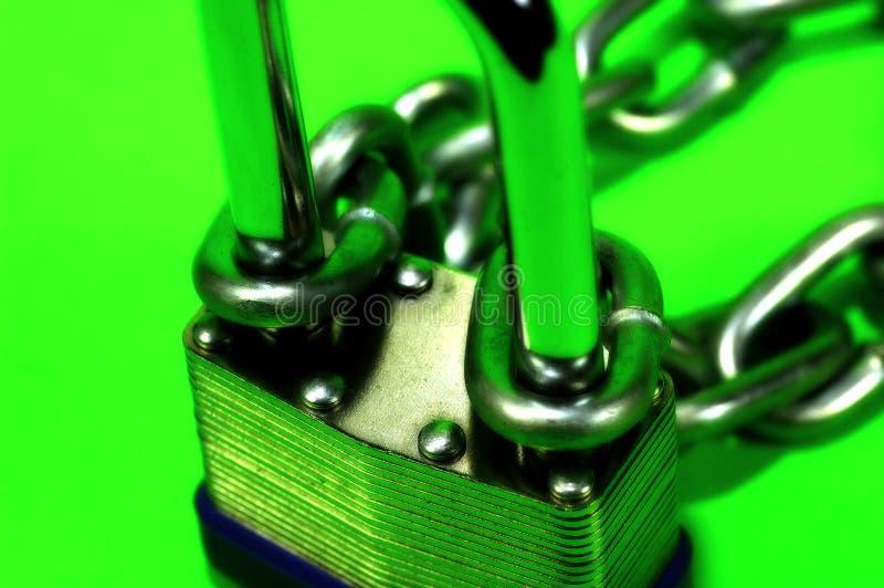 κλείδωμα αλυσίδων στοκ εικόνα με δικαίωμα ελεύθερης χρήσης