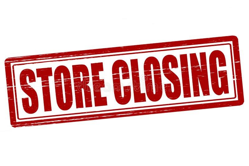 κλείνοντας κατάστημα ελεύθερη απεικόνιση δικαιώματος