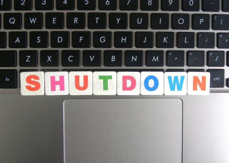 Κλείσιμο λέξης στο υπόβαθρο πληκτρολογίων στοκ φωτογραφία με δικαίωμα ελεύθερης χρήσης