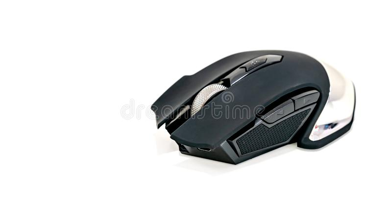 Κλείσιμο ποντικιού παιχνιδιών σύγχρονου μαύρου χρώματος στοκ φωτογραφία με δικαίωμα ελεύθερης χρήσης