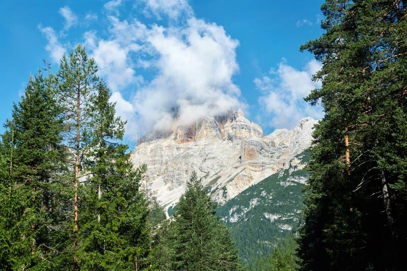 """Κλείστε αυξημένος βουνών Cortina δ των """"Ampezzo στοκ εικόνες"""