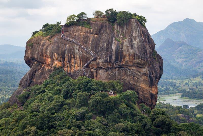 Κλείστε αυξημένος στο βράχο Sigiriya στοκ φωτογραφίες με δικαίωμα ελεύθερης χρήσης