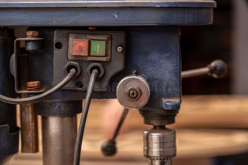 Κλείστε επάνω στη μηχανή διατρήσεων στοκ φωτογραφία με δικαίωμα ελεύθερης χρήσης