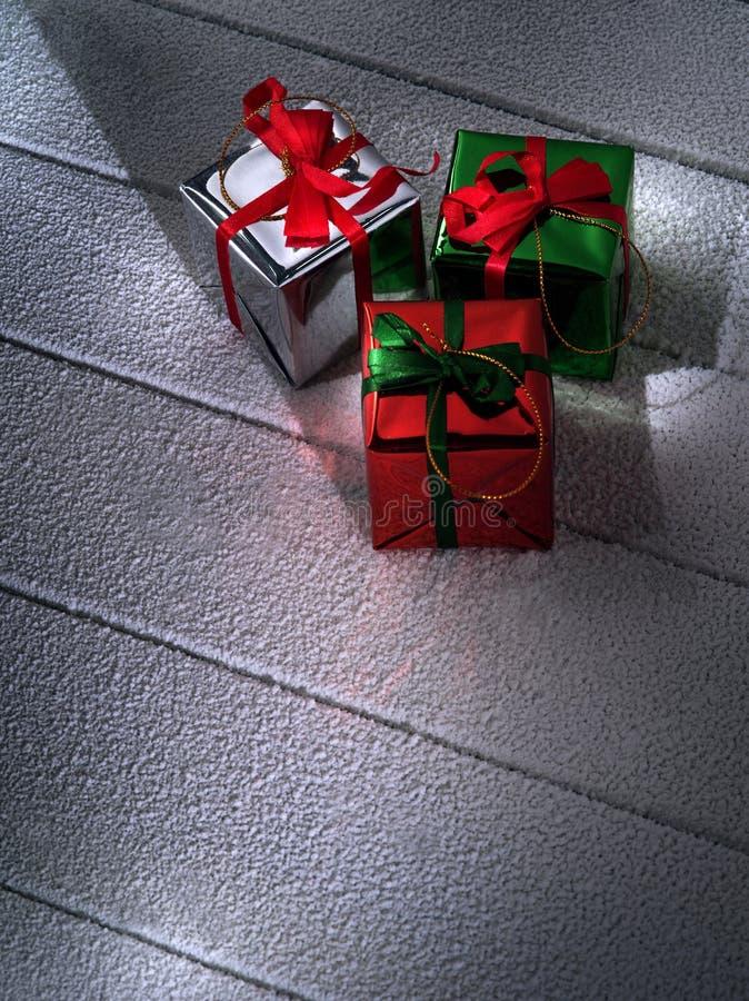 Κλείστε επάνω την άποψη των κιβωτίων δώρων στοκ φωτογραφίες με δικαίωμα ελεύθερης χρήσης