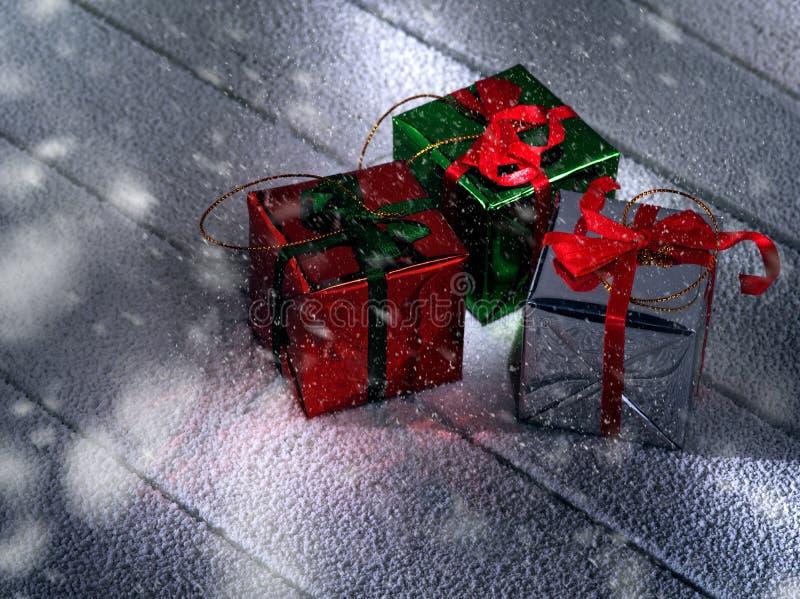 Κλείστε επάνω την άποψη των κιβωτίων δώρων στοκ εικόνες με δικαίωμα ελεύθερης χρήσης