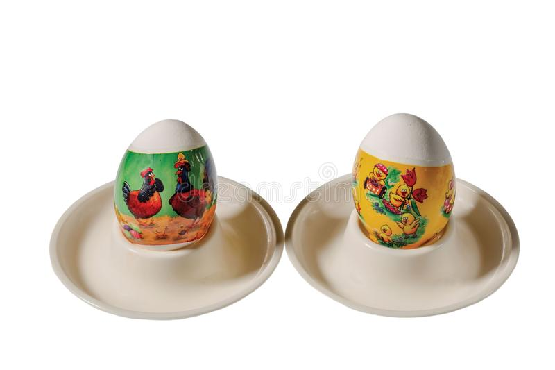 Κλείστε επάνω την άποψη των παραδοσιακά διακοσμημένων αυγών Πάσχας Ζωηρόχρωμη παράδοση Υπόβαθρα Πάσχας στοκ φωτογραφίες με δικαίωμα ελεύθερης χρήσης