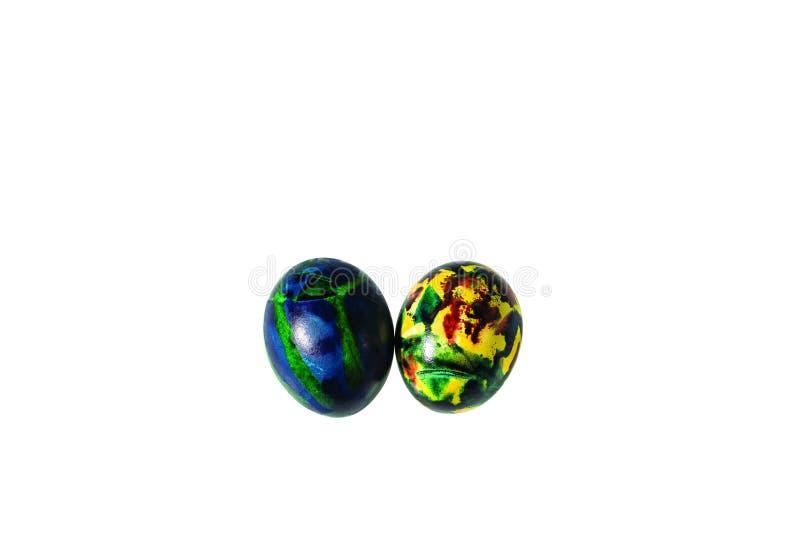 Κλείστε επάνω την άποψη των παραδοσιακά διακοσμημένων αυγών Πάσχας Ζωηρόχρωμη παράδοση Υπόβαθρα Πάσχας στοκ φωτογραφία με δικαίωμα ελεύθερης χρήσης
