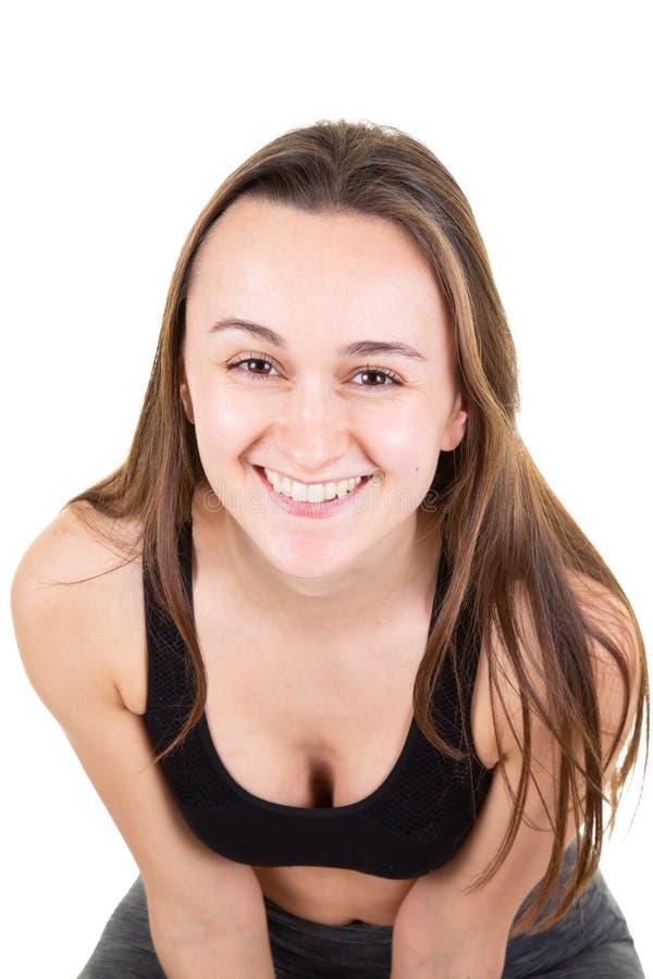 Κλείστε επάνω την εικόνα της ελκυστικής κατάλληλης γυναίκας στο κέντρ στοκ φωτογραφίες με δικαίωμα ελεύθερης χρήσης