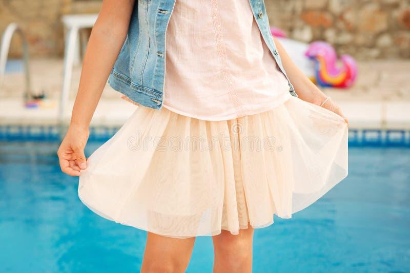 Κλείστε επάνω την εικόνα της φούστας του Tulle στοκ εικόνες με δικαίωμα ελεύθερης χρήσης
