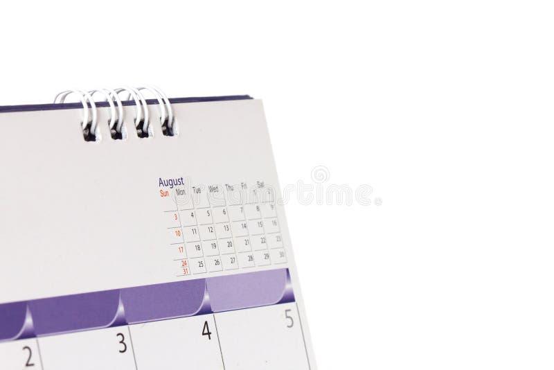 Κλείστε επάνω την ημερολογιακή σελίδα στον πίνακα στοκ φωτογραφία με δικαίωμα ελεύθερης χρήσης