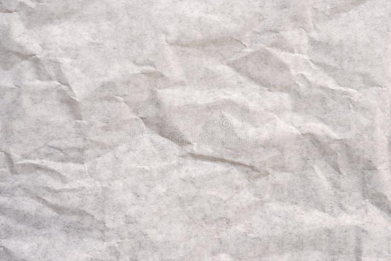 Κλείστε επάνω την παλαιά τσαλακωμένη σύσταση και το υπόβαθρο της Λευκής Βίβλου στοκ εικόνα
