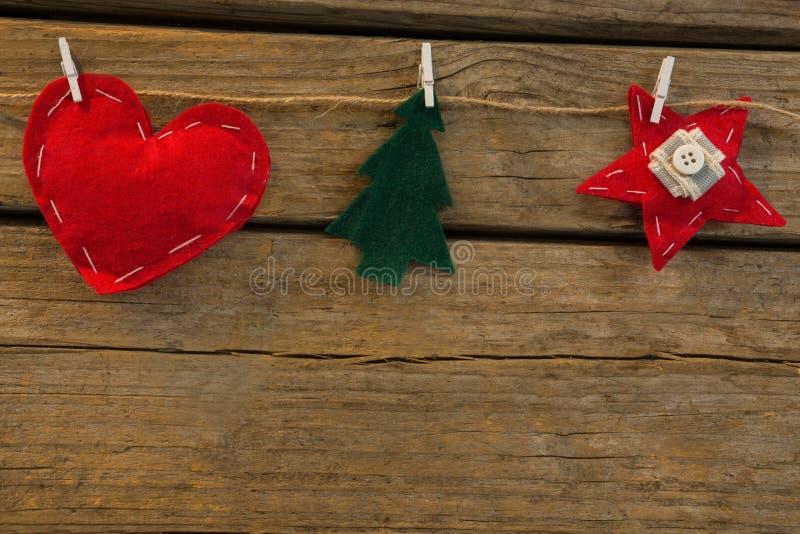 Κλείστε επάνω της διάφορης διακόσμησης Χριστουγέννων μορφών στοκ φωτογραφίες με δικαίωμα ελεύθερης χρήσης