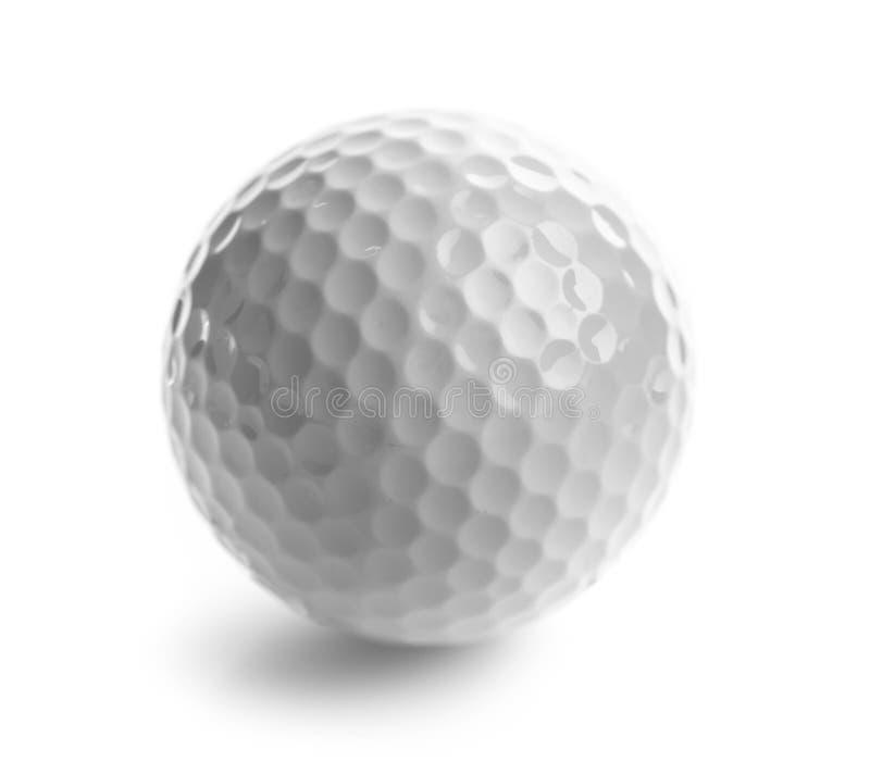 Κλείστε επάνω της σφαίρας γκολφ, που απομονώνεται στο λευκό στοκ φωτογραφία με δικαίωμα ελεύθερης χρήσης