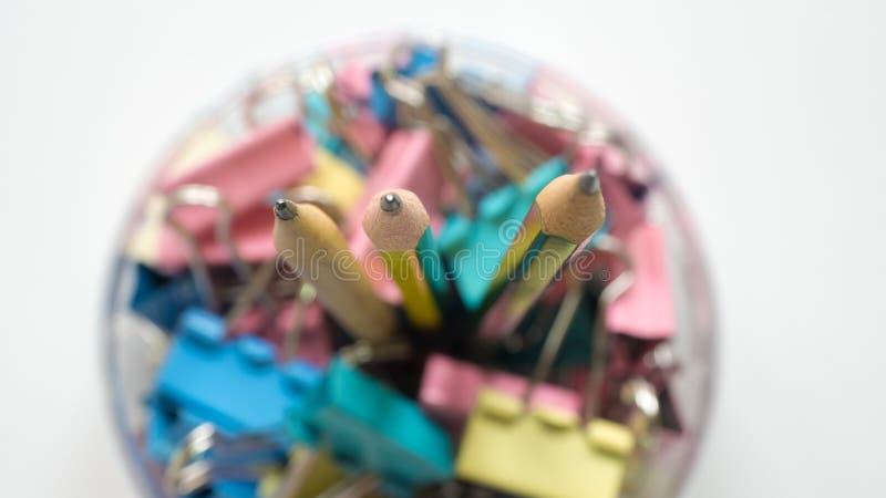 Κλείστε επάνω τη τοπ άποψη μολυβιών στοκ εικόνες με δικαίωμα ελεύθερης χρήσης
