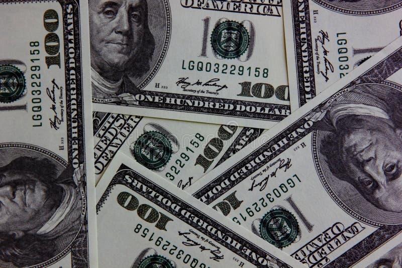 κλείστε επάνω το αμερικανικό τραπεζογραμμάτιο Αμερικανικές κυκλοφορημένες χρήματα παγκόσμιες άγρια περιοχές χρήματα για την πληρω στοκ φωτογραφία με δικαίωμα ελεύθερης χρήσης