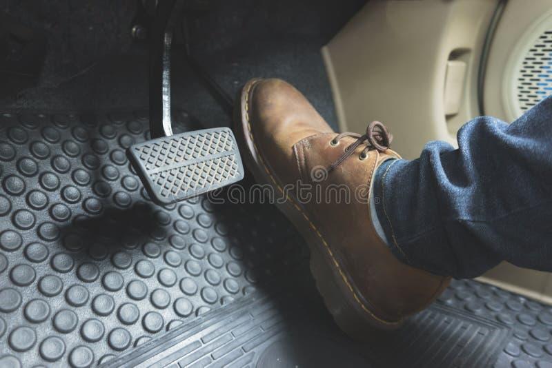 Κλείστε επάνω το πεντάλι παπουτσιών δέρματος ob στοκ εικόνα με δικαίωμα ελεύθερης χρήσης
