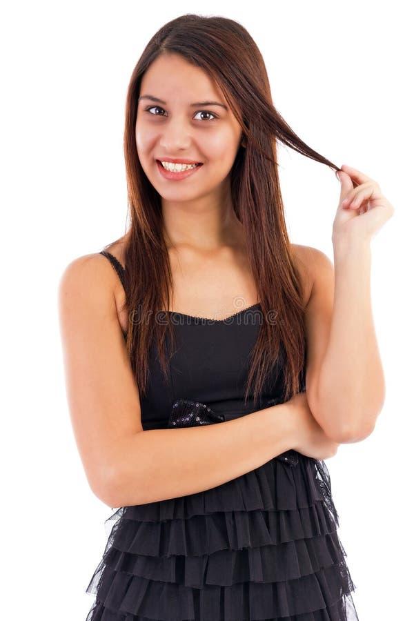Κλείστε επάνω το πορτρέτο ενός αρκετά νέου γυναικείου χαμόγελου στοκ φωτογραφίες με δικαίωμα ελεύθερης χρήσης