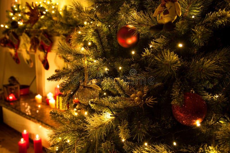 Κλείστε επάνω το υπόβαθρο Χριστουγέννων στοκ φωτογραφίες με δικαίωμα ελεύθερης χρήσης